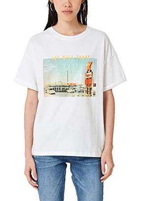 Q/S designed by Women's 41.909.32.5421 T-Shirt,14 (Size: Large)