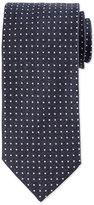 Eton Micro Dot-Print Silk Tie, Blue