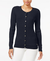 Tommy Hilfiger Frida Cable-Knit Cardigan, Only at Macy's