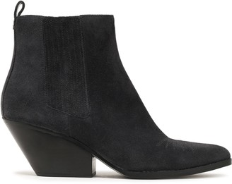MICHAEL Michael Kors Sinclair Embroidered Suede Ankle Boots