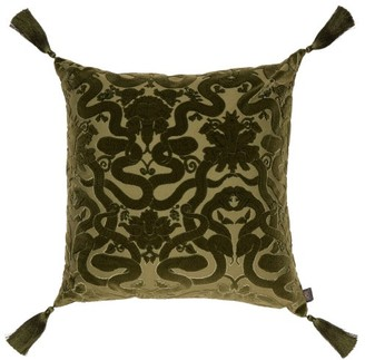 House of Hackney Anaconda Flocked-velvet Cushion - Green
