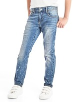 Gap High stretch paint splatter slim jeans