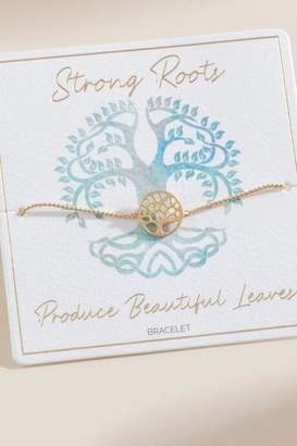 francesca's Gisset Strong Roots Pull Tie Bracelet - Gold