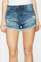 Blank NYC Distressed Wedge Shorts
