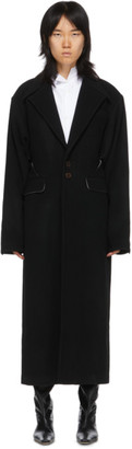 Situationist Black Oversize Shoulder Coat