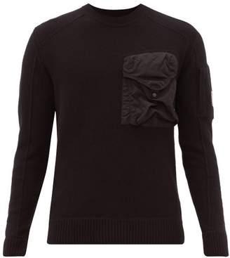 C.P. Company Technical Pocket Wool Blend Sweater - Mens - Black