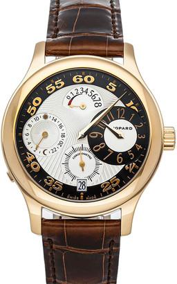 Chopard Silver/Black 18K Yellow Gold L.U.C. Regulator Limited Edition 161874-5001 Men's Wristwatch 39.5 MM