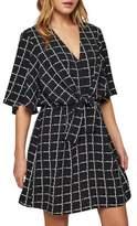 Miss Selfridge Grid Check Tie-Front Dress