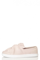 Quiz Blush Pink Twist Skater Trainers