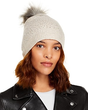 Aqua Faux Fur Pom Pom Hat - 100% Exclusive