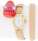 Kate Spade Women's Snake Double Wrap Leather Strap Watch