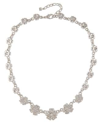 Susan Caplan Vintage 1980s Vintage Nina Ricci Swarovski Crystal Flower Necklace