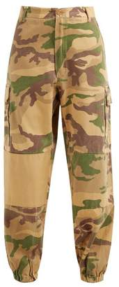 Myar - Camouflage-print Elasticated-cuff Cotton Trousers - Womens - Multi