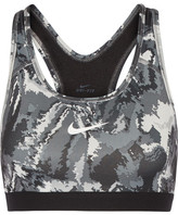 Nike Pro Classic Printed Stretch-jersey Sports Bra - Gray