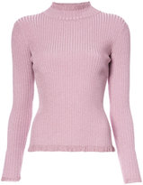 Milly ribbed high neck jumper