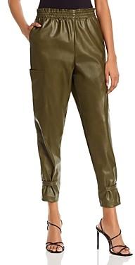 Lucy Paris Faux Leather Cargo Pants - 100% Exclusive