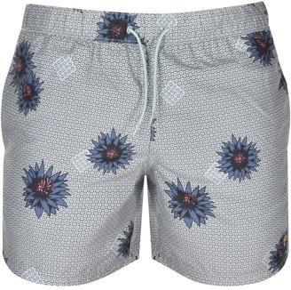 Farah Colbert Floral Swim Shorts Green