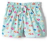 Classic Girls Plus Pattern Woven Shorts-Pale Sky Mini Beach Umbrellas