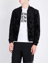 McQ Floral devoré bomber jacket