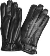 Dents Carlisle Black Fur-lined Leather Gloves