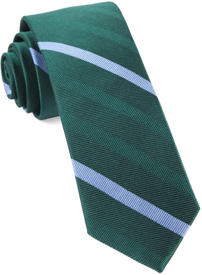 Hunter The Tie BarThe Tie Bar Green Goal Line Stripe Tie