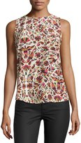 Haute Hippie Sleeveless Printed Tank, Mexican Blanket