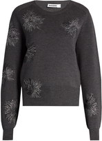 Jil Sander Floral-embroidered wool sweater