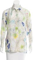 Dries Van Noten Floral Print Silk Blouse
