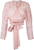 Maryam Nassir Zadeh 'Mara' kimono wrap top - women - Silk/Cotton - 2
