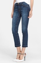 Current/Elliott Women's The Cropped Straight Released Hem Jeans