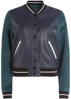 Rag & Bone Suede and Leather Varsity Jacket