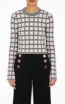 Derek Lam 10 Crosby Women's Plaid Jacquard Crop Sweater-CREAM