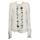 Ungaro White Cotton Jacket for Women