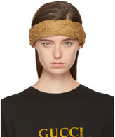 Gucci Gold Lurex Braided Headband