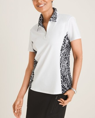 Zenergy Print-Blocked Polo Shirt