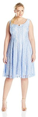 Julian Taylor Women's Plus-Size Lace A-Line Dress