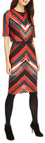 Phase Eight Beverly Brush Stroke Stripe Dress, Multi