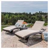 Christopher Knight Home Salem 3 Piece Brown Wicker Lounge and Coffee Table