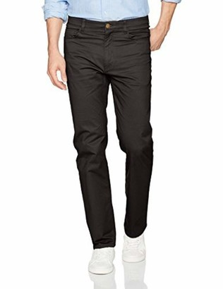 Savane Men's Flat Front Active Flex 5-Pocket Casual Pant
