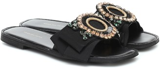 Dries Van Noten Embellished slides