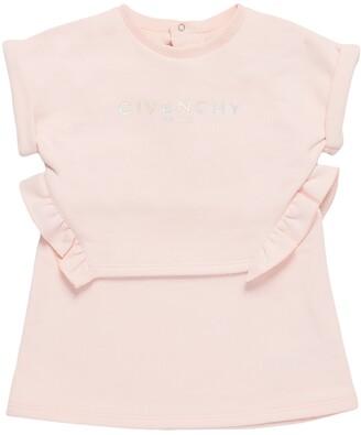 Givenchy Logo Print Cotton Sweat Dress