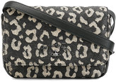 Vivienne Westwood leopard print crossbody bag - women - Calf Leather/Straw - One Size