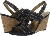 Anne Klein Tuva (Black Leather) - Footwear