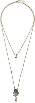 Alexander McQueen Double-Wrap Beetle Necklace