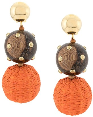 Oscar de la Renta Beaded Drop Earrings