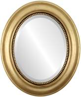Oval And Round Mirrors OvalAndRoundMirrors.com Oval Beveled Mirror in a Heritage style frame with outside dimensions