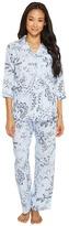 Lauren Ralph Lauren Petite 3/4 Sleeve Classic Notch Collar Pajama Women's Pajama Sets