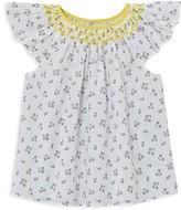 Jacadi Girls' Floral Print Flutter Top - Baby