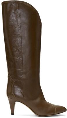 Isabel Marant Brown Shiny Lestan Boots