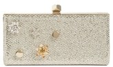 Jimmy Choo Jewelled Collection Celeste Buttons Glitter Clutch - Beige